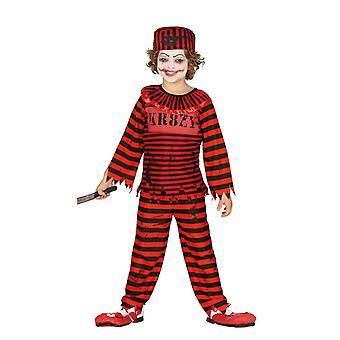 Boys Childrens Pyscho Clown Halloween Fancy Dress Costume