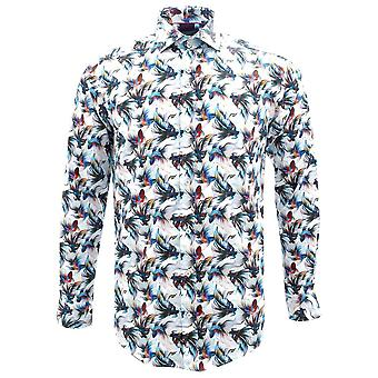 Guide London Exotic Fish Print Pure Cotton Long Sleeve Mens Shirt