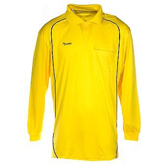 Presisjon dommer langermet menns fotball fotball skjorte gul/svart