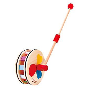 Classic World - Push Along Wooden Rainbow Roll Toy