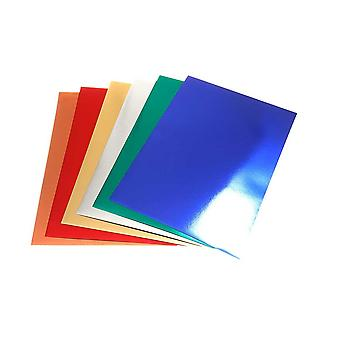 30 Assorted A4 Sheets of Metallic Card | Coloured Card for Crafts