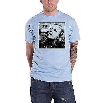 David Bowie T shirt Hunky Dory mono album cover nieuwe officiële mens licht blauw