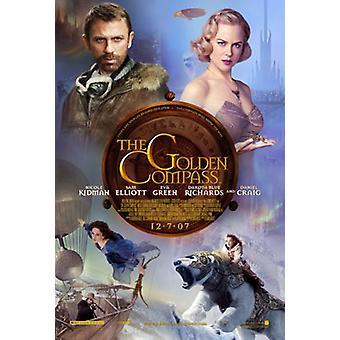 Kultainen kompassi (kaksipuolinen) alkuperäinen elokuva juliste