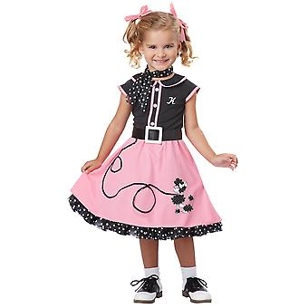 50s Poodle Old School Rock N Roll Grease Rétro Toddler Child Girls Costume
