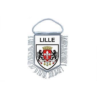 Fanion Mini Flag Country Car Decoration Souvenir Blason France Lille Lilois