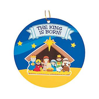 24 Christian Nativity klistremerke Scene Christmas Bauble ornamenter