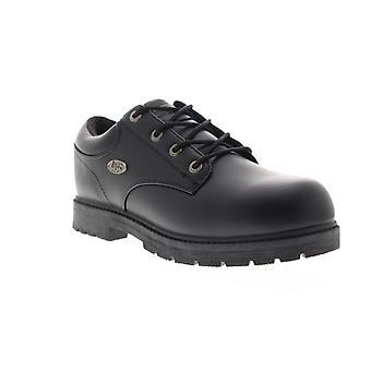 Lugz Warrant LO SR  Mens Black Leather Casual Oxfords Shoes