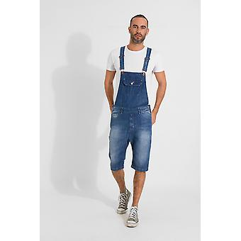 Jesse denim slim fit pantaloncini dungaree