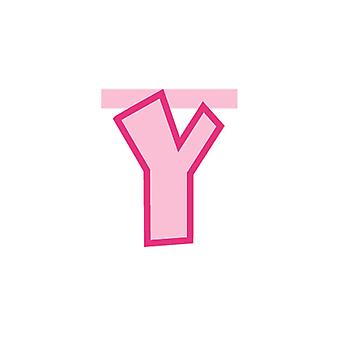 Linking Banner 20cm Pink Letter - Y Party Decoration