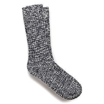 Birkenstock Herre bomulds sokker slub 1002535 blå hvid
