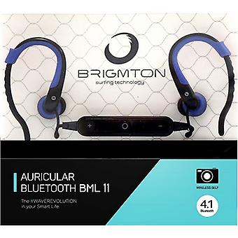 Bluetooth sports headphones with Microphone BRIGMTON BML-11-A Blue