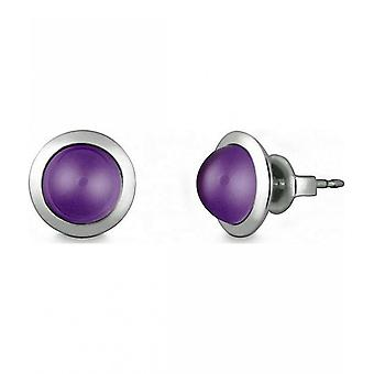 Quinn - Silver stud earrings with amethyst - 036838933
