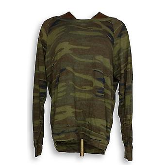 Alternative Apparel Women's Top Eco Jersey Printed Slouchy Green A343355