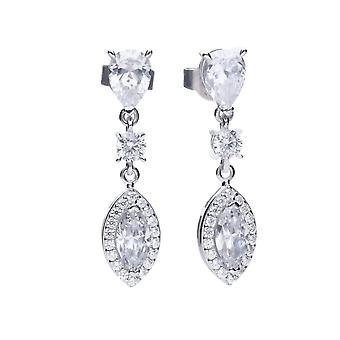 Diamonfire Marquise Pave Surround Cubic Zirconia Drop Earrings E5785