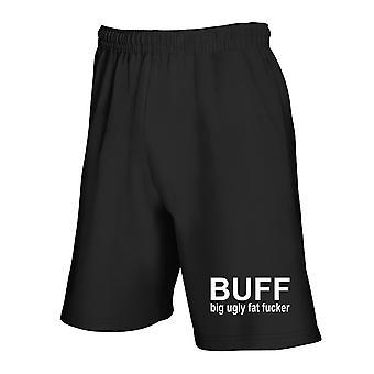 Pantaloncini tuta nero tsr1055 buff big ugly fat fuc ker