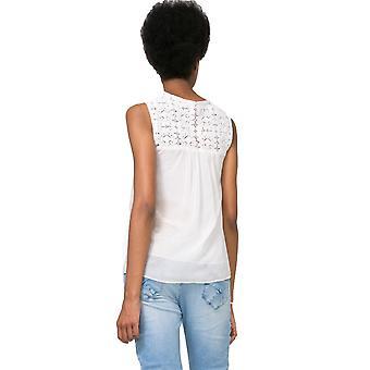 Desigual Women's Cuello Sm Lace Blouse