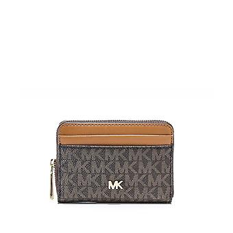 Michael Kors Small Logo & Leather Wallet