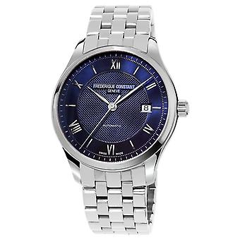 Frederique Constant Men's Index Blue Dial Stainless Steel Bracelet FC-303MN5B6B Watch
