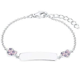 Princess Lillifee Kids Bracelet Ident Silver Hearts Zirconia 2027208