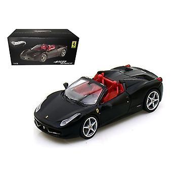 Ferrari 458 Italia Spider Black Elite Edition 1/43 Diecast Car Model par Hotwheels