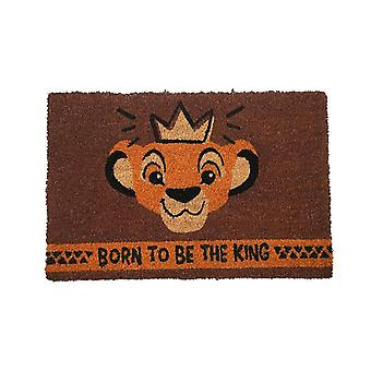 Disney King of The Lions Doormat Born to be the King brown, made of coconut fiber, underside made of PVC.