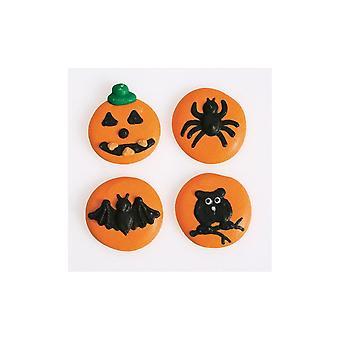 Culpitt Halloween Button Zucker Rohrleitungen - 12 Stück - Box von 12