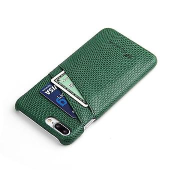 For iPhone 8 PLUS,7 PLUS Case,Elegant Deluxe Snake Pattern Leather Cover,Green