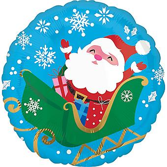 Anagram 18 Inch Santa In Sleigh Christmas Foil Balloon