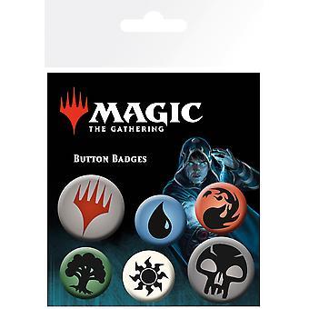 Magic a Gathering Mana szimbólumok Badge Pack