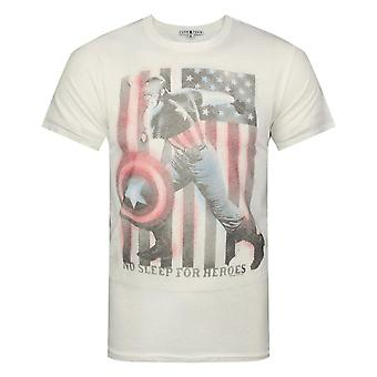 Junk Food Captain America No Sleep For Heroes Men-apos;s T-Shirt