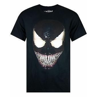 Marvel Comics Venom Face Men's camiseta de manga corta en negro
