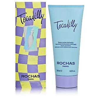 Tocadilly by rochas for women 6.8 oz perfumed moisturizing body emulsion