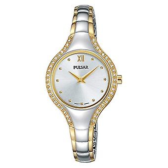 Pulsar ladies analogue watch with metal plated stainless steel PM2228X1