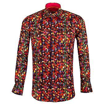 Claudio Lugli Candy Print meerkleurige puur katoen / lange mouw mannen Shirt