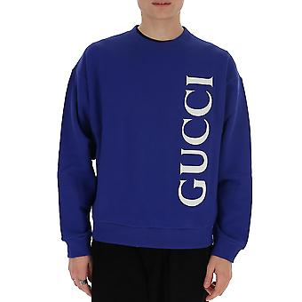 Gucci 599345xjb1c4118 Män's Blue Cotton Sweatshirt