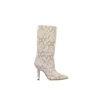 Paris Texas Px206pythonrc Women's Grey Leather Ankle Boots