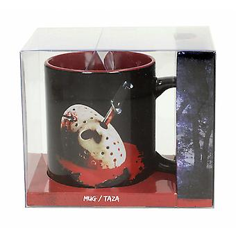Friday the 13th cup Jason Vorhees mask and dagger black/red, printed, made of 100% ceramic, capacity approx. 320 ml.