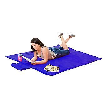 Azul impermeable XXL manta de picnic grande tirar al aire libre jardín barbacoa viaje rug