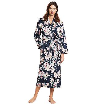 Féraud 3191017-16353 Women's High Class Blue Multicolour Cotton Dressing Gown Loungewear Robe
