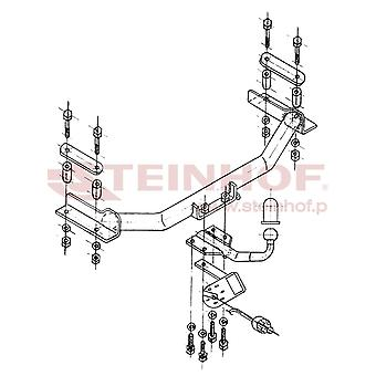 Steinhof Tow Bars And Hitches for COURIER van 1996 to 2002