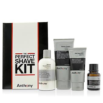 Anthony Logistics For Men The Perfect Shave Kit: Cleanser + Pre-Shave Oil + Shave Cream + After Shave Cream 4pcs
