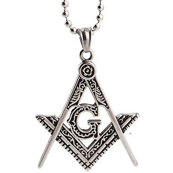 Compass & square g necklace