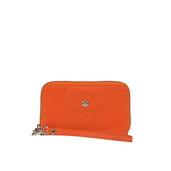 Longchamp Ezgl036012 Women's Orange Leather Wallet
