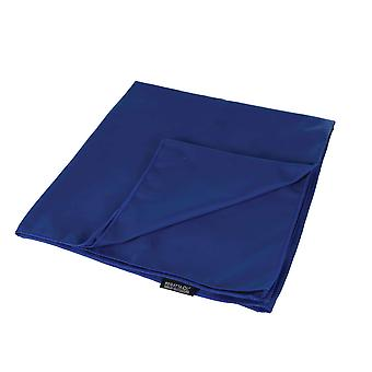 regatta medium travel towel laser blue for camping, beach trips and picnics