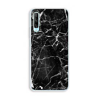 Huawei P Smart Pro Transparent Case (Soft) - Black Marble 2