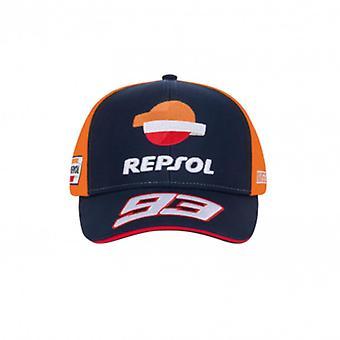 Marc Marquez Repsol Honda Mens Baseball Cap   Navy/Orange   2020