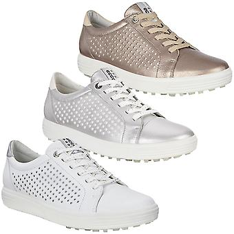 Ecco Womens Waterproof Golf Casual Hybrid Leather Shoes