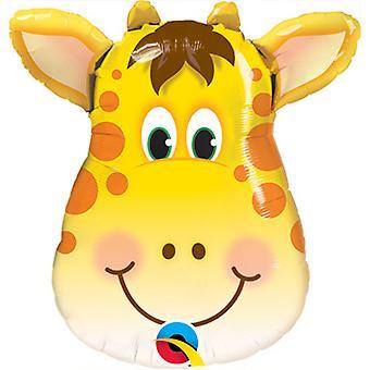 Qualatex Giraffe Shaped Foil Balloon