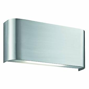 LED Indoor Up/Down Wall Lamp Satin Silver