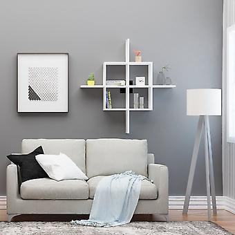 Ilha weiß Farbe Regal, schwarz in Chip, bemaltE Metallschicht 110x18x110 cm